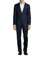Michael Kors Wool Two Button Pants Suit Navy
