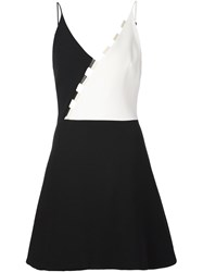 David Koma Colour Block Mini Dress Black
