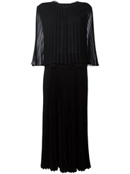 Talbot Runhof Bungalow 'Lorent' Dress Black