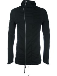 Masnada Funnel Neck Hooded Jacket Black