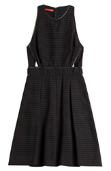 Tamara Mellon Woven Dress With Cut Outs