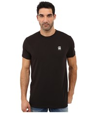 G Star Rence Short Sleeve Tee In Wigston Stretch Jersey Black Men's T Shirt