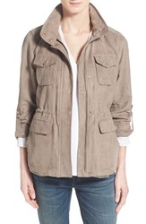 Women's Vince Camuto Faux Suede Hooded Jacket Pebble