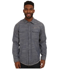 Exofficio Tivoli Chambray Long Sleeve Top Galaxy Men's Long Sleeve Button Up Navy