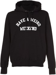 Undercover 'Have A Weird Weekend' Hoodie Black