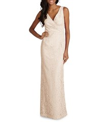 Donna Morgan Sleeveless Sheath Gown Fawn