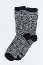 Urban Outfitters Skate Pattern Sock Black