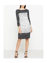Lk Bennett L.K. Gina Polka Dot Dress Black And White Multi