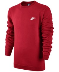Nike Men's Crewneck Fleece Sweatshirt University Red