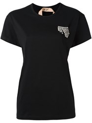 N 21 No21 Embellished T Shirt Black