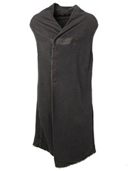 Lost And Found Frayed Edge Oversized Gilet Grey