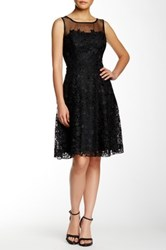 Eva Franco Illusion Yoke Bailey Dress Black
