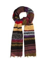 Etro Striped Wool Blend Scarf Multi