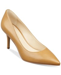 Marc Fisher Turnner Pointed Toe Pumps Women's Shoes Light Natural Leather