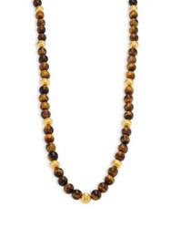 Kenneth Jay Lane Tiger Eye Beaded Necklace Tigers Eye