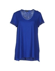 Fred Perry Topwear T Shirts Women Blue