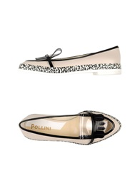 Pollini Moccasins Ivory