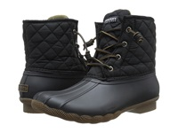 Sperry Saltwater Quilted Nylon Black Women's Lace Up Boots