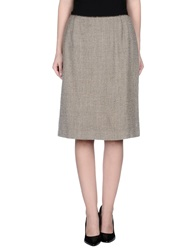Cantarelli Knee Length Skirts Khaki