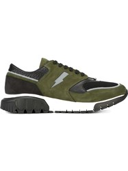 Neil Barrett 'Pierced Punk' Sneakers Green