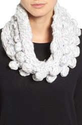 Collection Xiix Women's Textured Knit Cowl Scarf Morning Fog