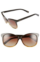 Women's Polaroid Eyewear 57Mm Polarized Cat Eye Sunglasses Brown Honey Brown Polarized