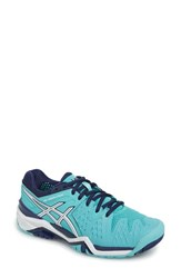 Asicsr Women's Asics 'Gel Resolution 5' Tennis Shoe Blue White Indigo Blue