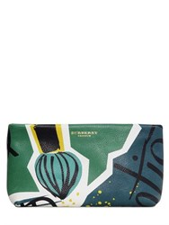 Burberry Art Painted Leather Clutch