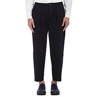 Marni Men's Cotton Wool Tapered Leg Trousers Blue