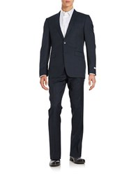 Calvin Klein Big And Tall Extreme Slim Fit Wool Pants Suit Navy