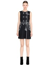 Boutique Moschino Trench Coat Printed Techno Cady Dress