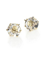 Ippolita Rock Candy Clear Quartz And 18K Yellow Gold Stud Earrings Gold Clear
