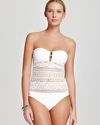 Lauren Ralph Lauren Swimsuit Crochet Strapless One Piece