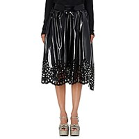 Marc Jacobs Women's Eyelet Midi Skirt Black Blue Black Blue