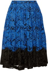 Badgley Mischka Two Tone Lace Skirt Blue
