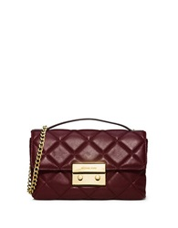Michael Michael Kors Sloan Quilted Leather Messenger Bag Merlot
