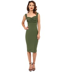Stop Staring Zoe Fitted Dress Green Women's Dress