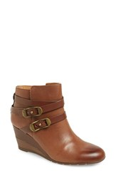 Sofft Women's 'Oakes' Wedge Bootie Whiskey Leather