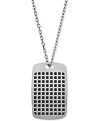 Emporio Armani Men's Stainless Steel Dog Tag Pendant Necklace Egs2116