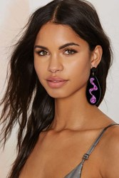 Nasty Gal I Still Love You Nyc Squiggle Drops Earrings