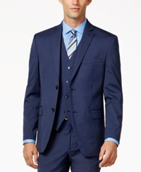 Alfani Red Men's Traveler Medium Blue Slim Fit Jacket Only At Macy's
