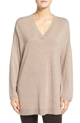 Eileen Fisher Women's Fine Gauge Wool Oversize V Neck Sweater