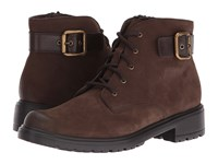 Munro American Bradley Brown Tumbled Nubuck Women's Lace Up Boots