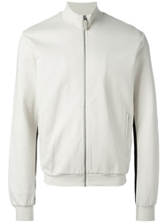 Dolce And Gabbana Paneled Zip Cardigan Nude And Neutrals
