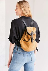 Urban Outfitters Rockee Suede Backpack Brown