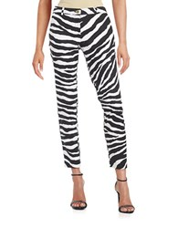 Michael Michael Kors Zebra Cropped Pants Black