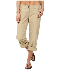 Exofficio Nomad Roll Up Pant Light Khaki Women's Casual Pants