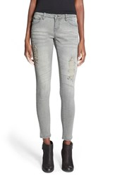 Junior Women's Lee Cooper 'Janie' Skinny Jeans Seafoam