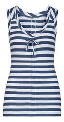 Sandwich Sleeveless Stripe Top Blue