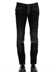 John Richmond Coated Biker Jeans